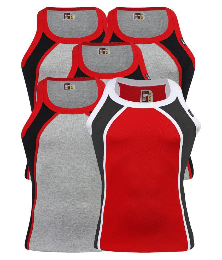 Euro Multi Sleeveless Vests Pack of 5