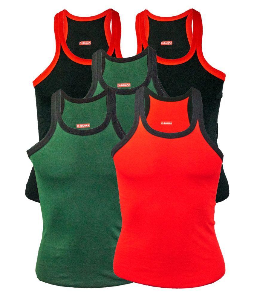 Rupa Multi Sleeveless Vests Pack of 5