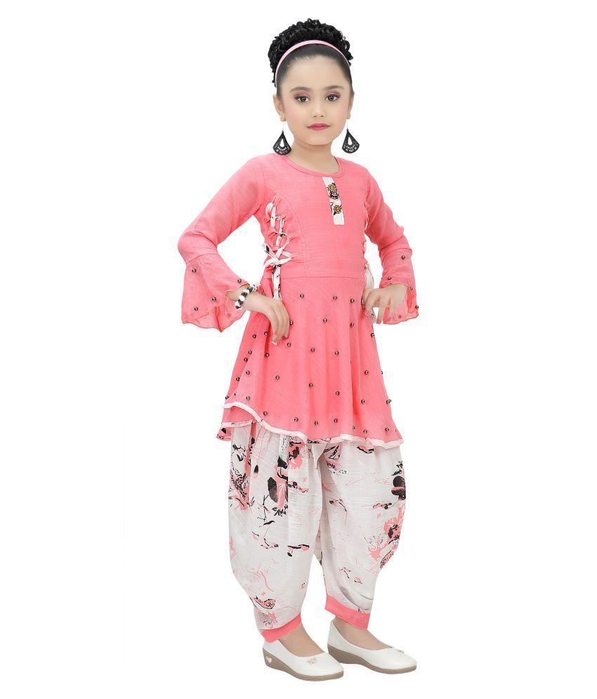 Arshia Fashions Girls Kurti and Dhoti Set