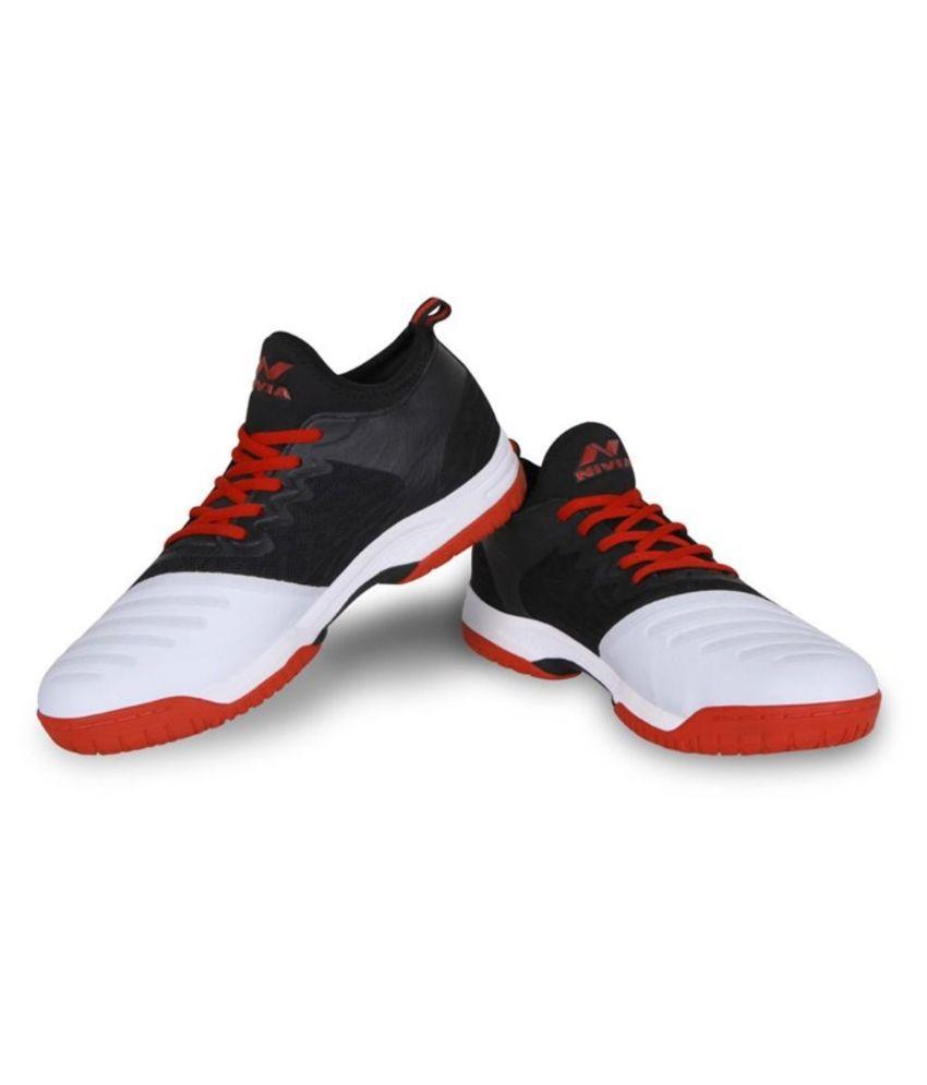 Nivia Nivia ZEAL 2.0 Shoes Black Unisex Non-Marking Shoes