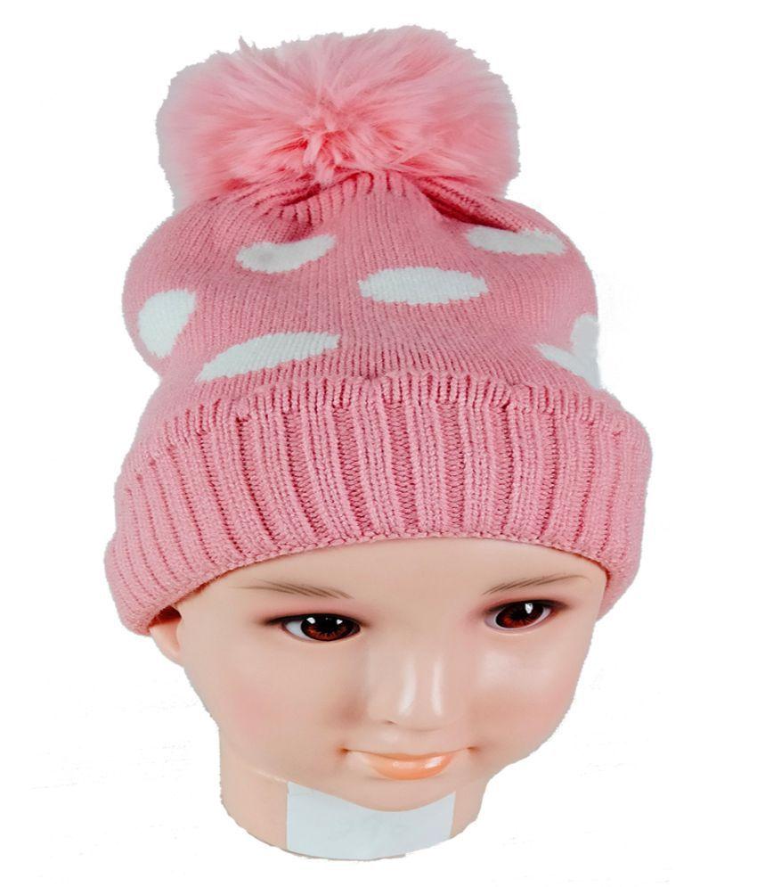 WARMZONE POLKA DOT KIDS BEANIE CAP (0254C)
