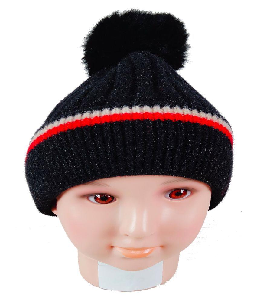Warmzone Kids Beanie Cap Solid Color Stylish Design  (0241C)