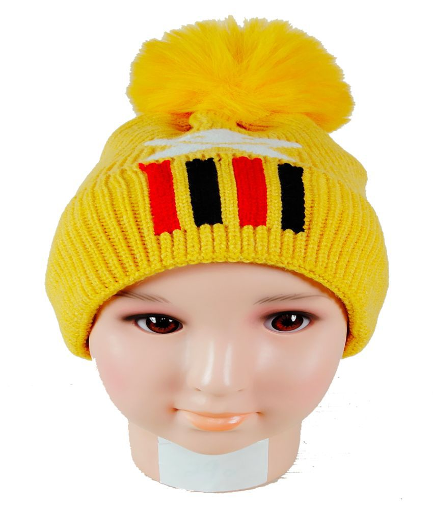 Warmzone Kids Beanie Cap Solid Color Stylish Design  (0251C)