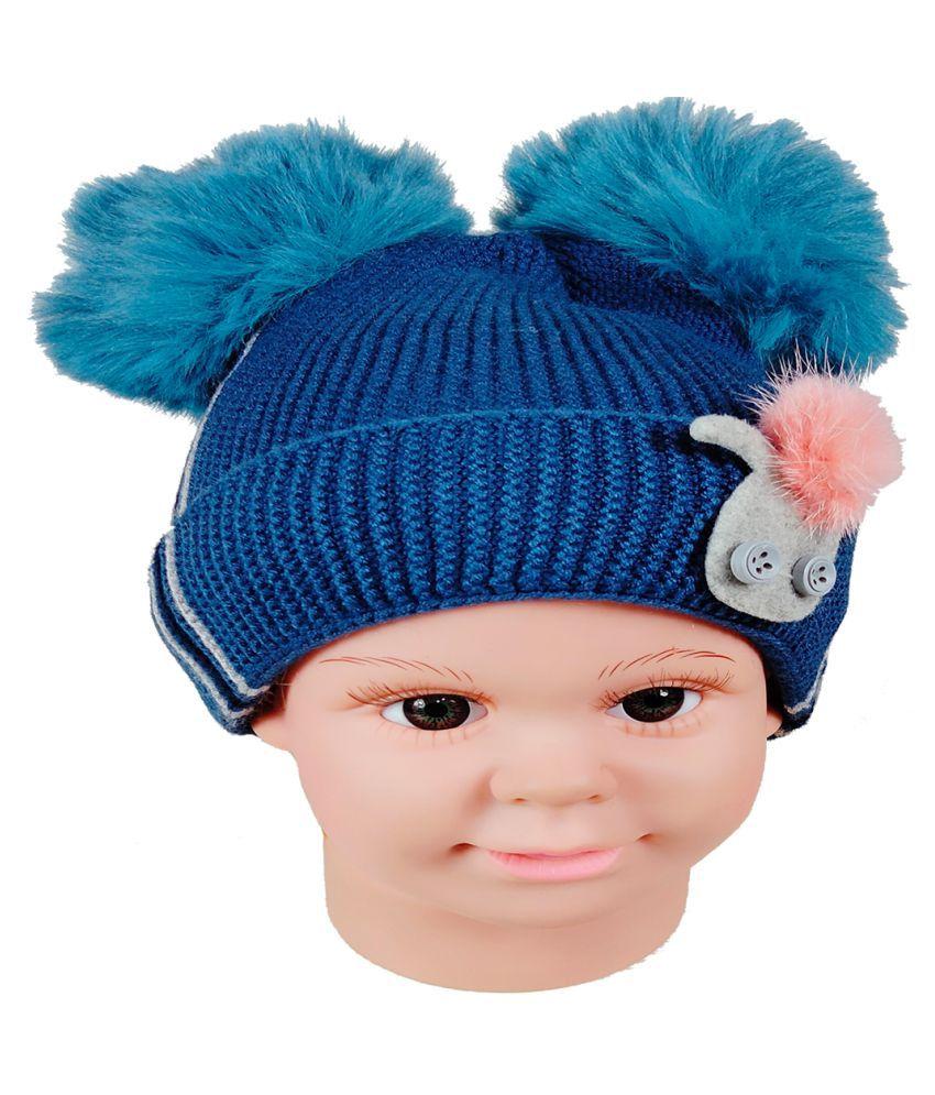 Warmzone Kids Beanie Cap Solid Color Stylish Design  (0248C)