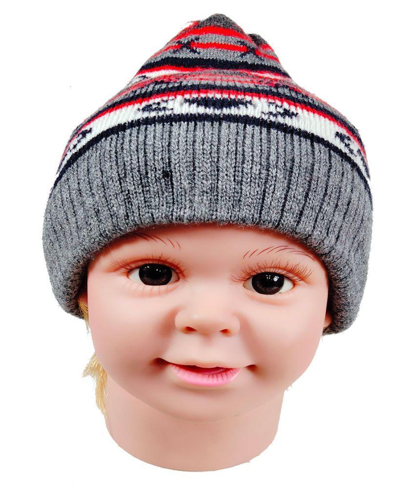 Warmzone Winter Striped MultiColor Kids Stylish Cap ( 0218C )