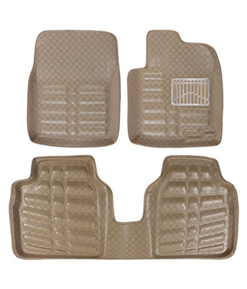 GARG CREATION car mat 3D car Foot mat 3D car Floor mat beige color pack of 1