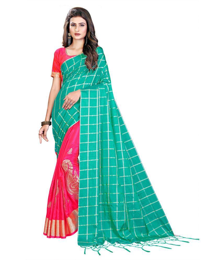 Indian Wholesale Online Blue,Pink Sana Silk Saree