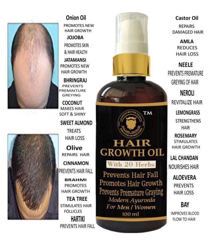 DAARIMOOCH Hair Growth Oil Anti Hair Fall Oil with Onion Castor 100 mL Pump Cardboard Box