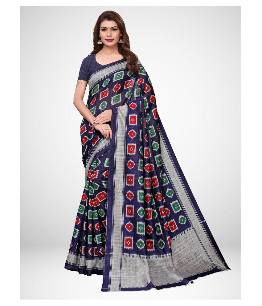 Sherine Blue Silk Blend Saree