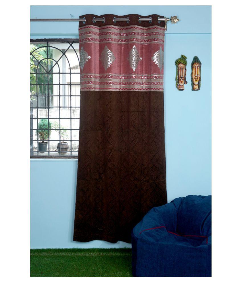 PardaOnline Single Window Blackout Room Darkening Eyelet Polyester Curtains Dark Brown