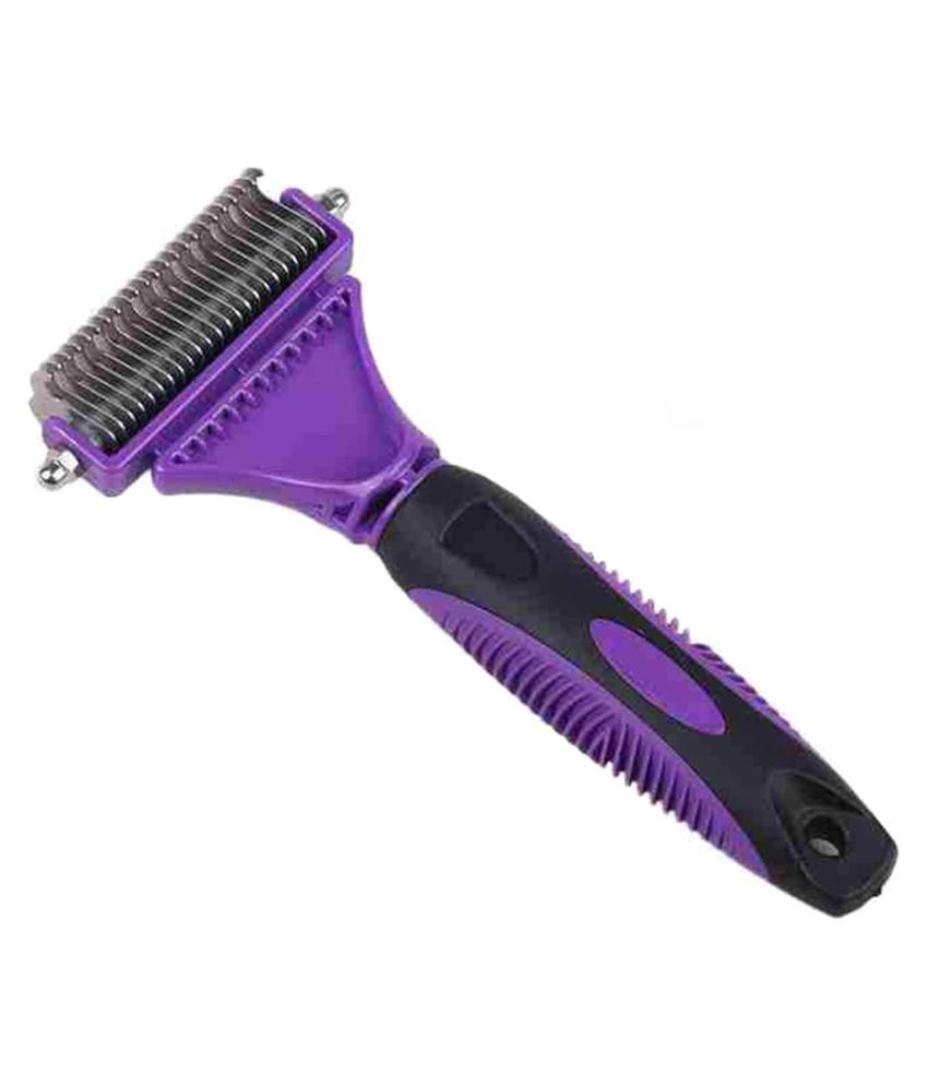 Emily Pet Grooming Dematting Double Side Teeth Blade Rake Comb for Large/Medium/Small Dog's/Cat's Short/Long Hair
