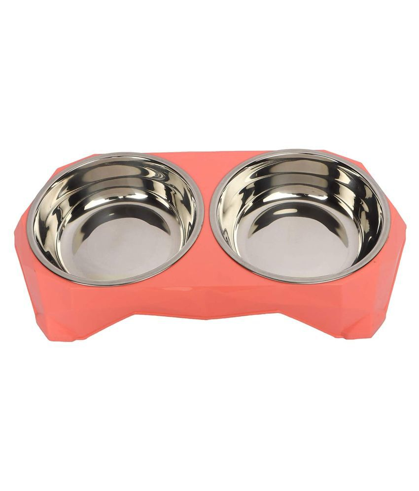 Emily Pets Food & Water Removal Stainless Steel 2 in 1 Bowl Set for Dog