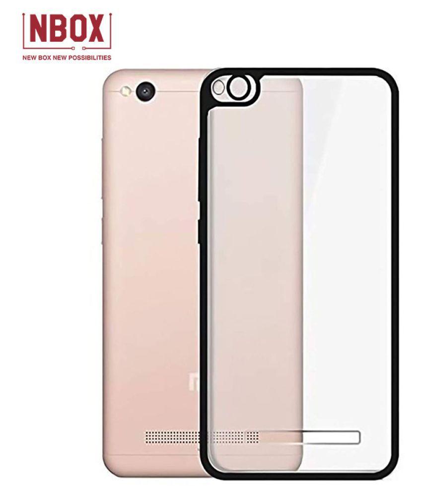 Xiaomi Redmi 4A Hybrid Transparent Mobile Cover by NBOX   Black