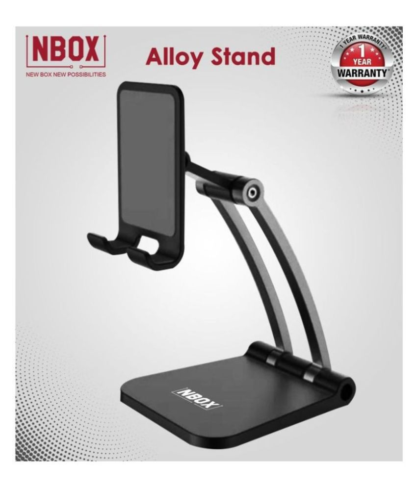 NBOX Tablet Phone Stand Multi-Angle Adjustable Stand Sturdy No-Slip/Shaking Foldable Desk Holder