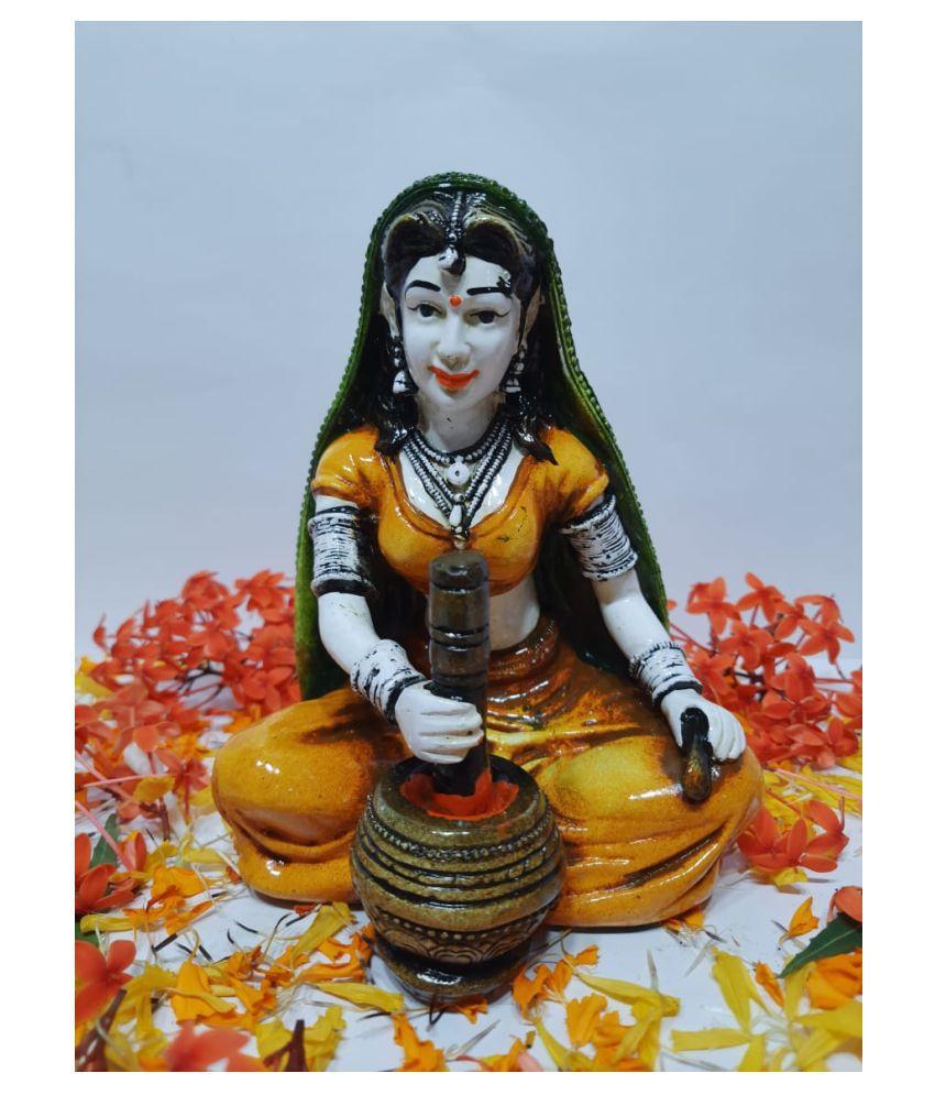 Jadhavs Creation Multicolour Polyresin Figurines - Pack of 1