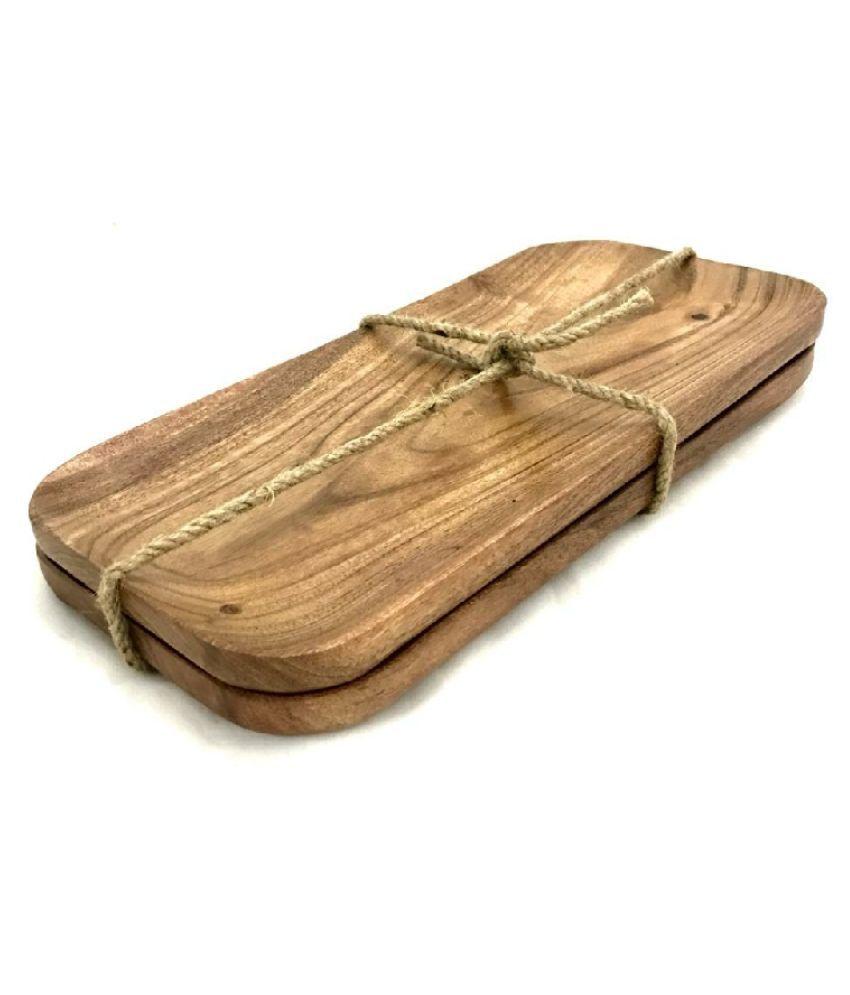 CarvingCraft 2 Pcs Wooden Platter