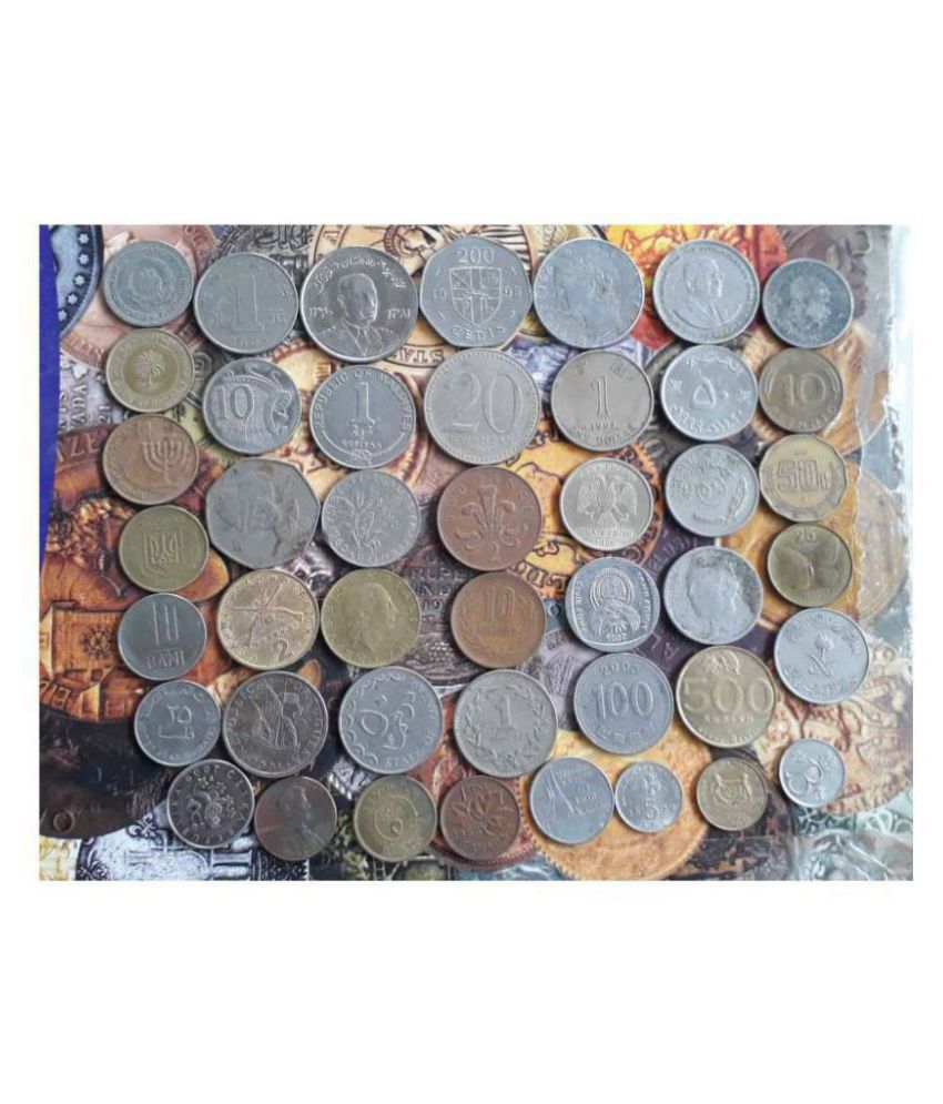 WORLD - 44 ALL DIFFERENT COUNTRIES  SET - CIRCULATED CONDITION - FOREIGN