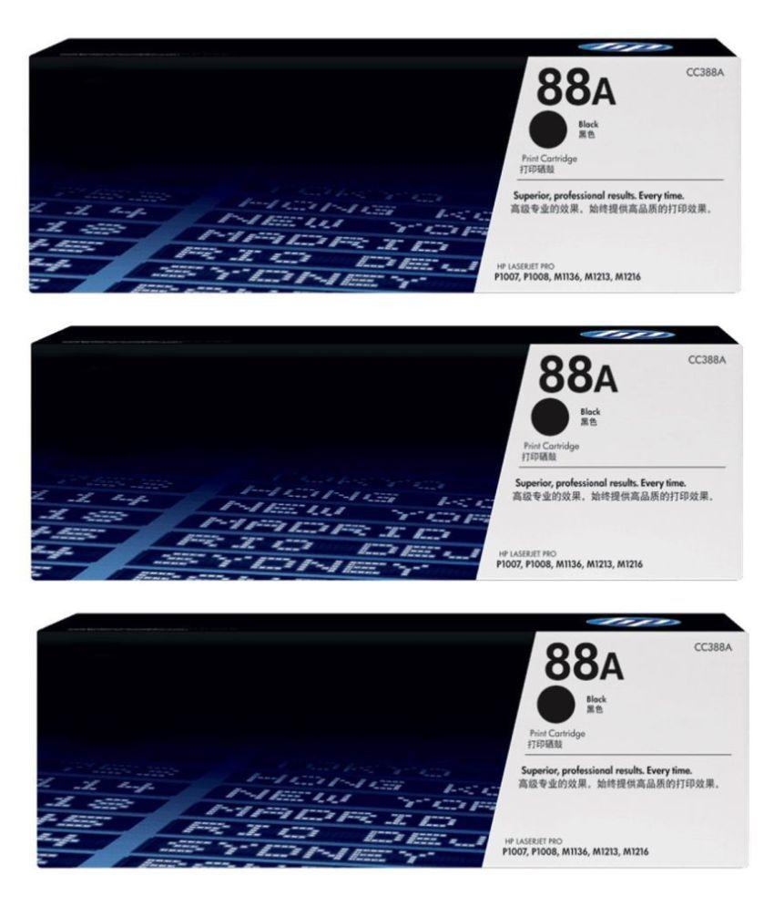 Refill 88A Cartridge HP Black Pack of 3 Toner for HP LaserJet Printers