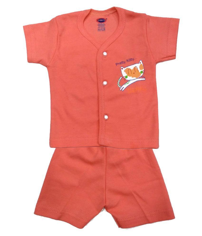 JOJO's Cotton Half sleeve Stylish Top & Half Pant (Pack of 1)