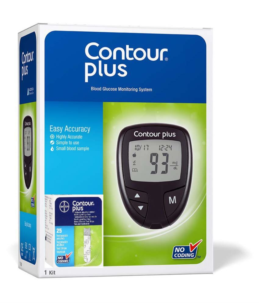 Contour Plus Glucometer With 25 Strips
