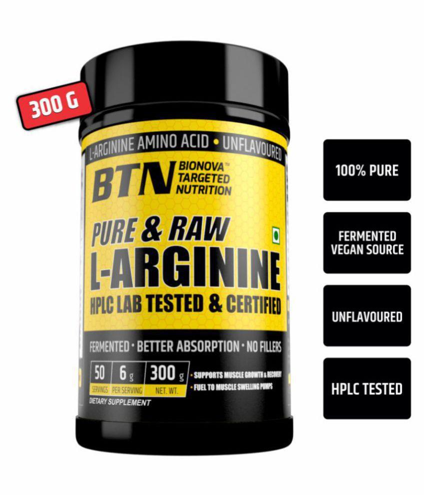 Bionova Pure & Raw L-Arginine 300 gm