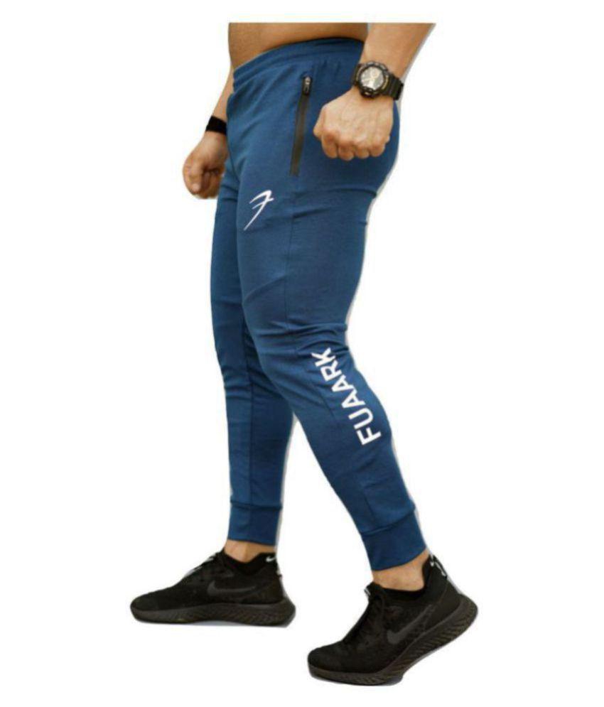 Fuaark Melange Sports Joggers (Blue), Training Joggers For Men,Gym Joggers