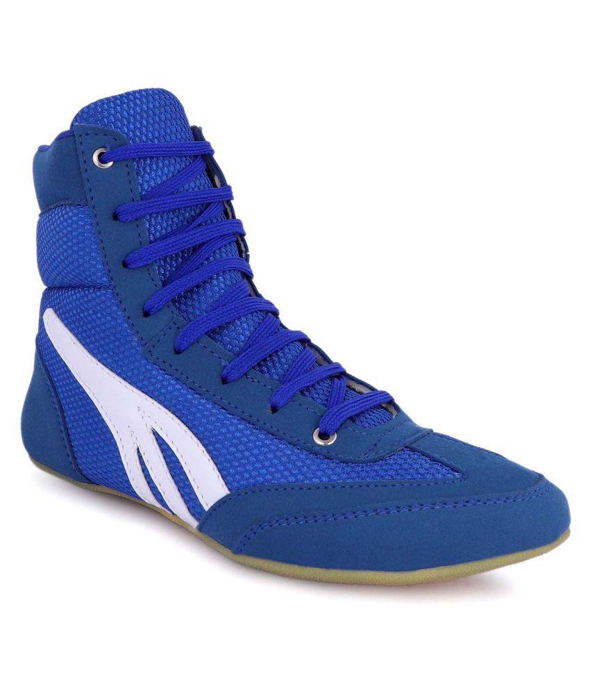 zorik ZR-1101-BLUE-WHITE Blue Indoor Court Shoes