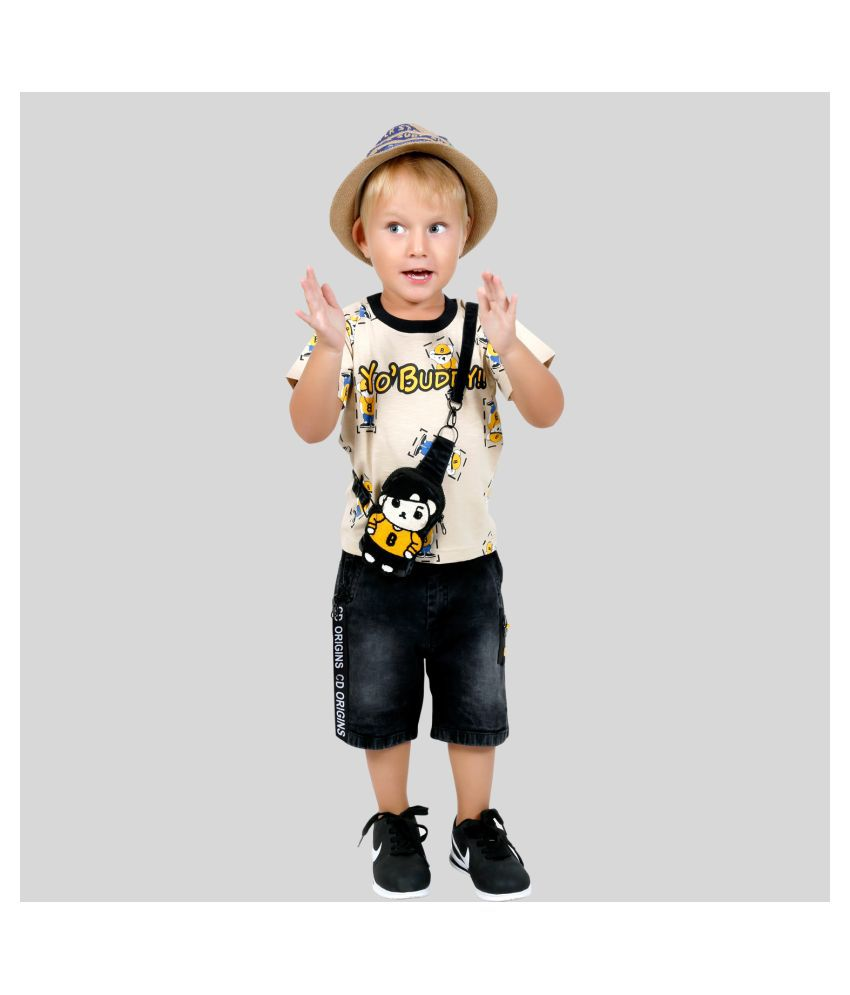 Bad Boys Super Stylish casual outfit comes with T-shirt, Shorts & side sling bag.