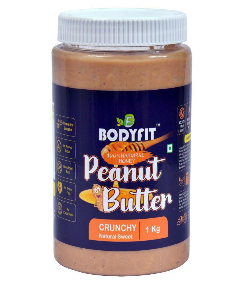 BODYFIT PEANUT BUTTER NATURAL HONEY CRUNCH Butter Chunky 1 kg