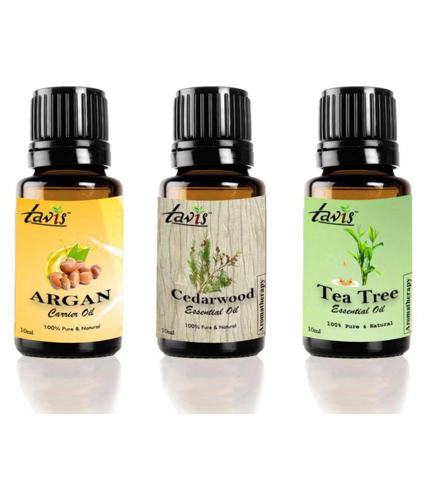 Tavis Argan, Cedarwood, Tea Tree Essential Oil 30 mL