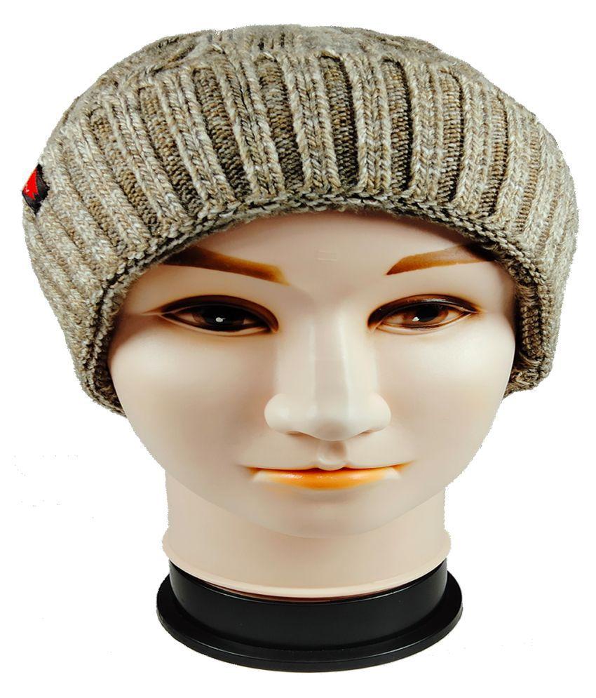 WARMZONE Beige Plain Acrylic Caps