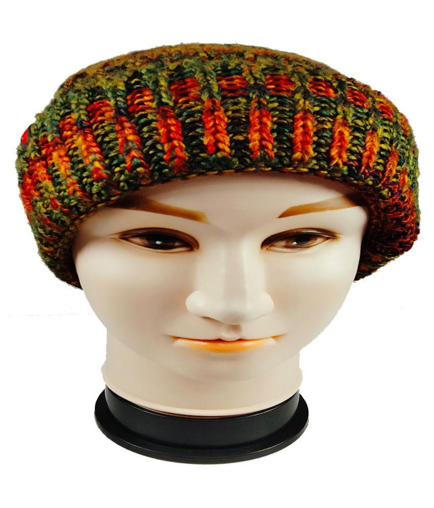 WARMZONE Green Striped Acrylic Caps