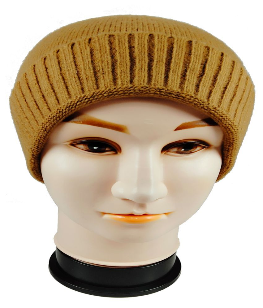 WARMZONE Yellow Plain Wool Caps