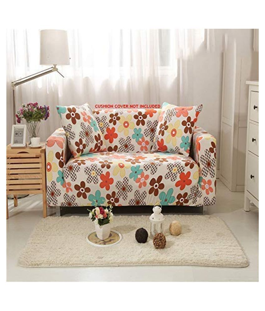 House Of Quirk 5 Seater Polyester Single Sofa Cover Set