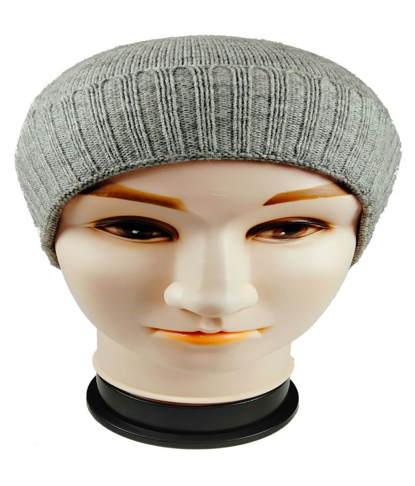 WARMZONE Gray Plain Wool Caps