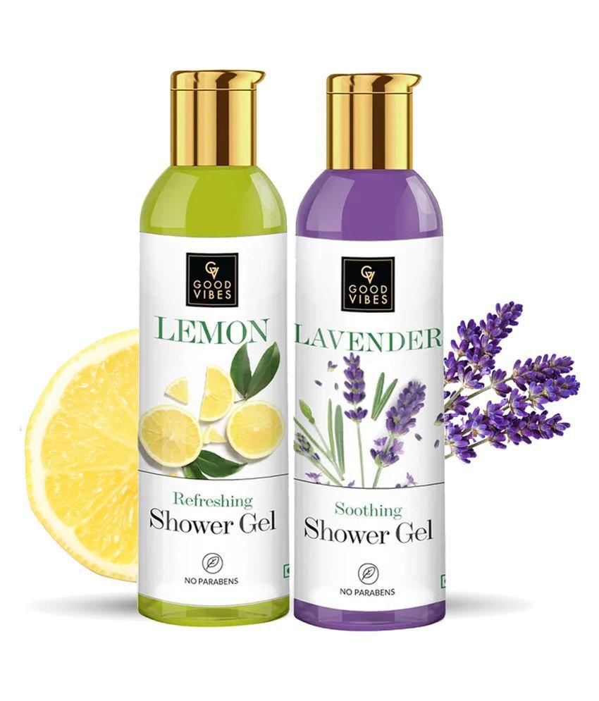 Good Vibes Refreshing Shower Gels Combo Kit ( Lavender 200 ml + Lemon 200 ml)