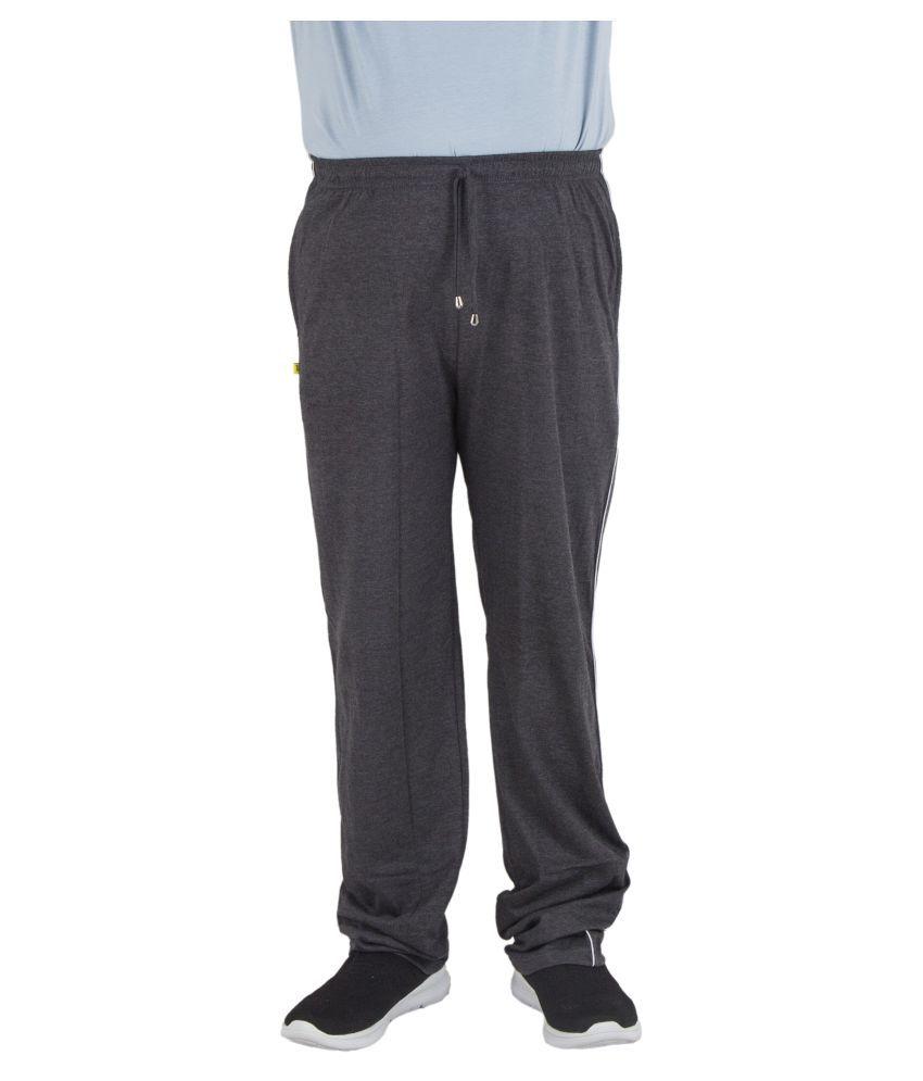 L&C Men's Solid Pattern Hosiery Track Pant , Carbon Black , 30 Inches , Medium