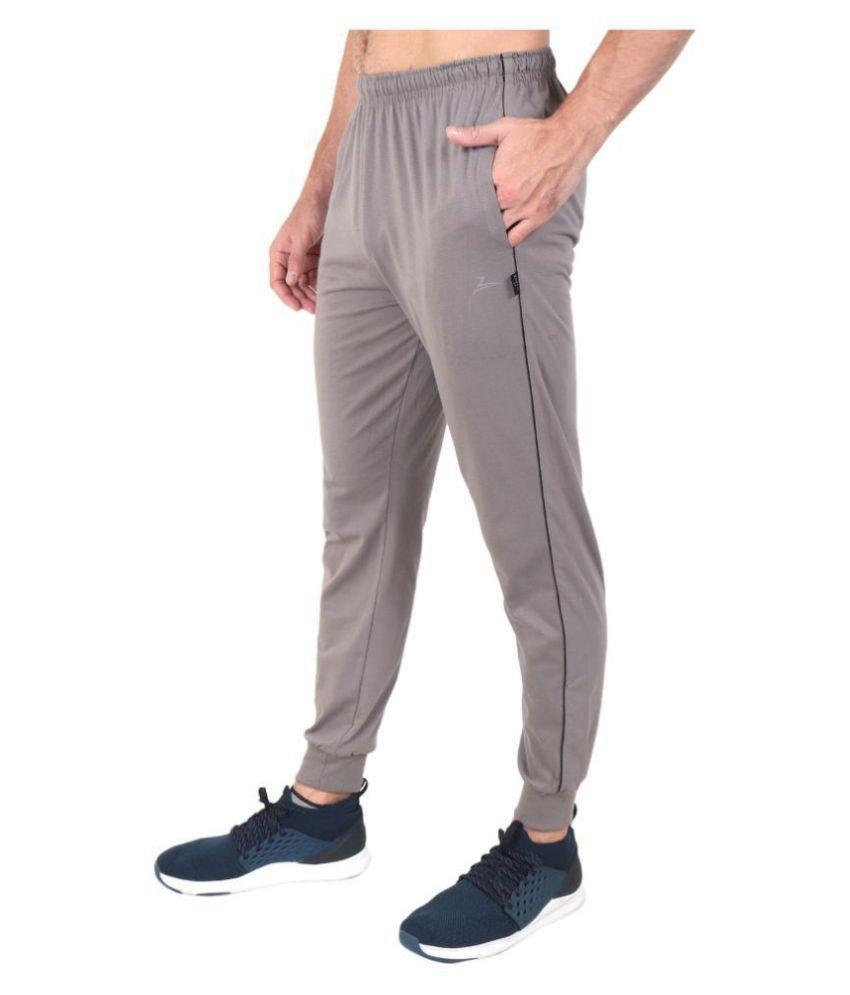 Zeffit Silver Cotton Blend Trackpants Single