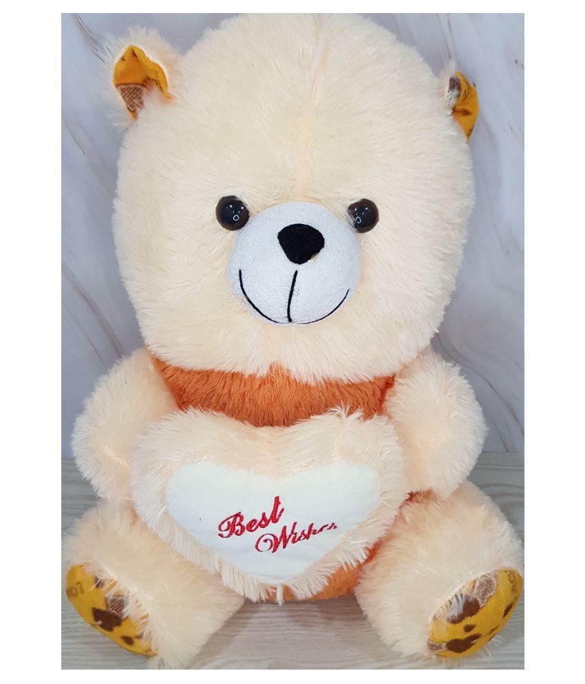 Kiddie Toys Cream Pink Teddy Bear with a heart, 65cm