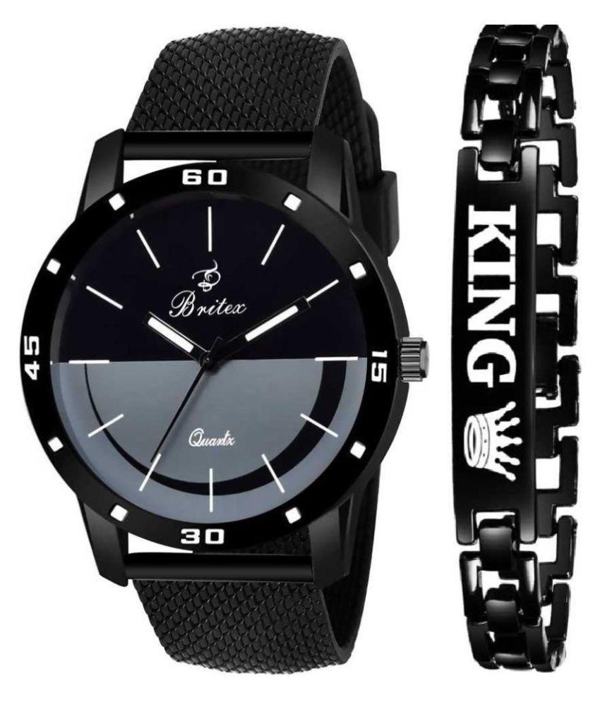 Britex BT7118+FREE BRACELET Silicon Analog Men's Watch