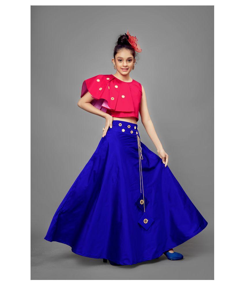 Mirrow Trade Girl's Mirror Embellished Readymade Lehenga Choli