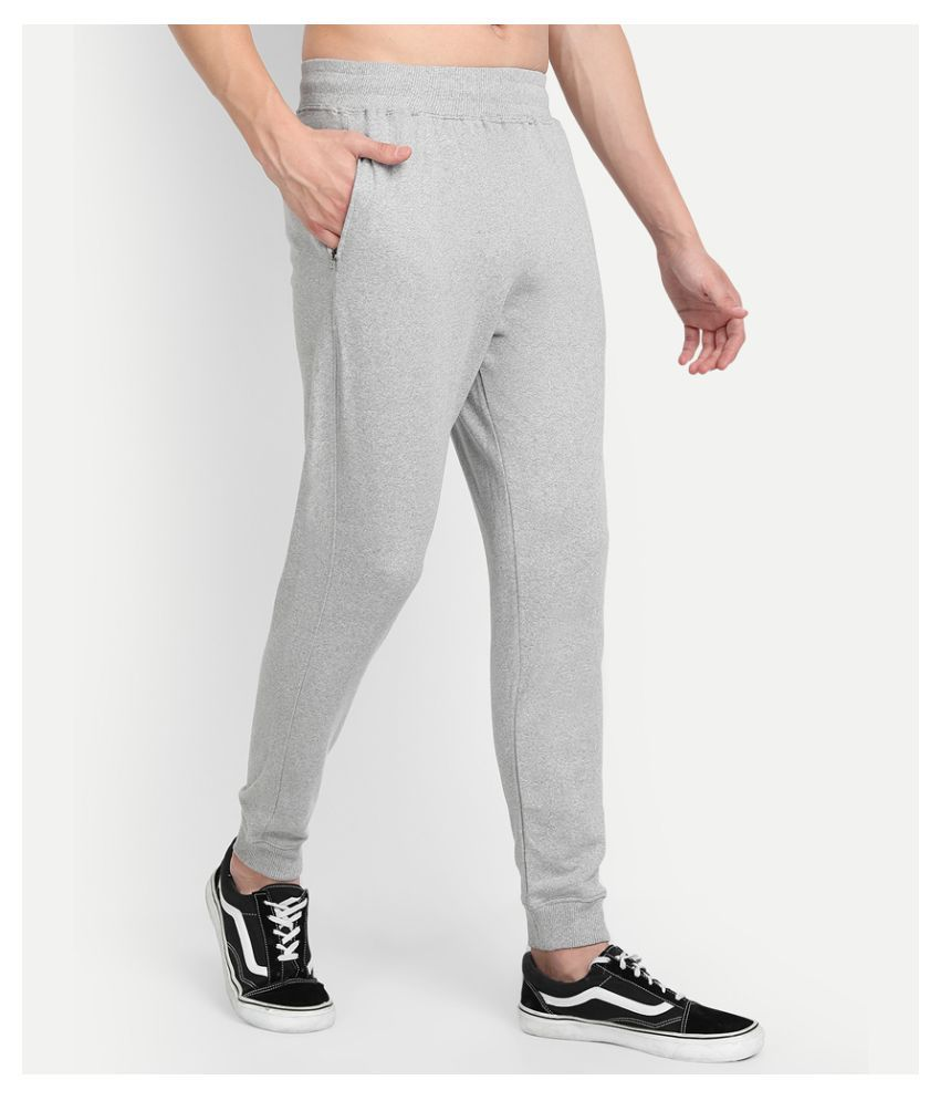 Be Awara Grey Fleece Joggers Single