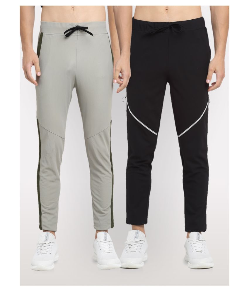 NEUDIS Multi Polyester Trackpants Pack of 2