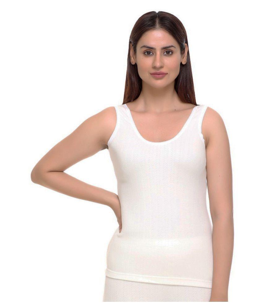 WARMZONE Cotton Blend Topwear - Off White