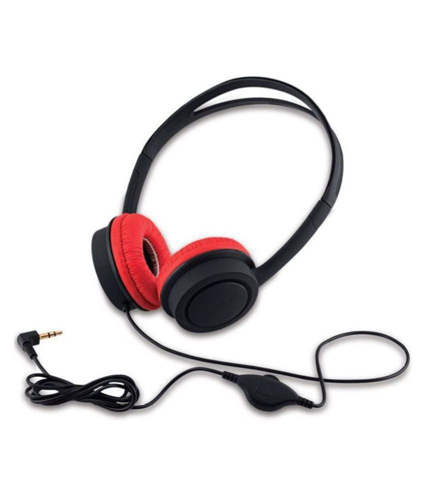 iBall KidsWired BLKRD Over Ear Wired Without Mic Headphones/Earphones