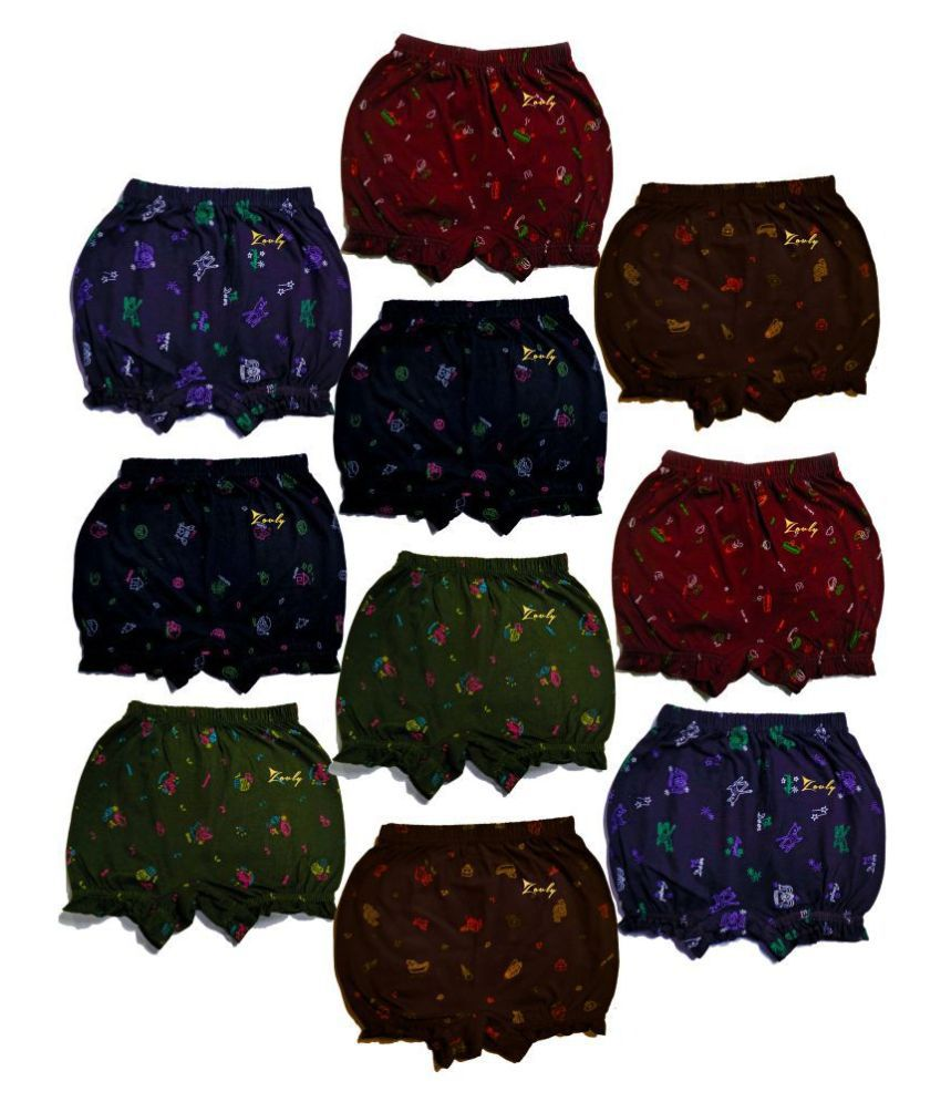 HAP Girls and Boys Cotton New Printed Bloomer drawer Pack (pack of 10)