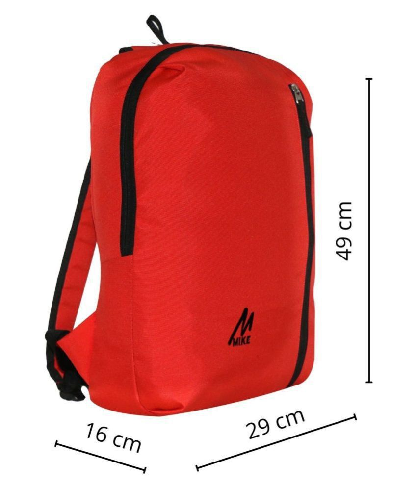 MIKE Red Backpack