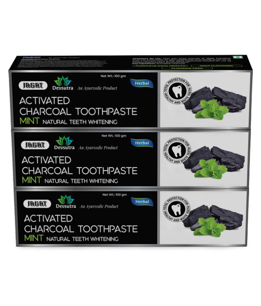 JAGAT - charcoal Toothpaste 100 gm Pack of 3