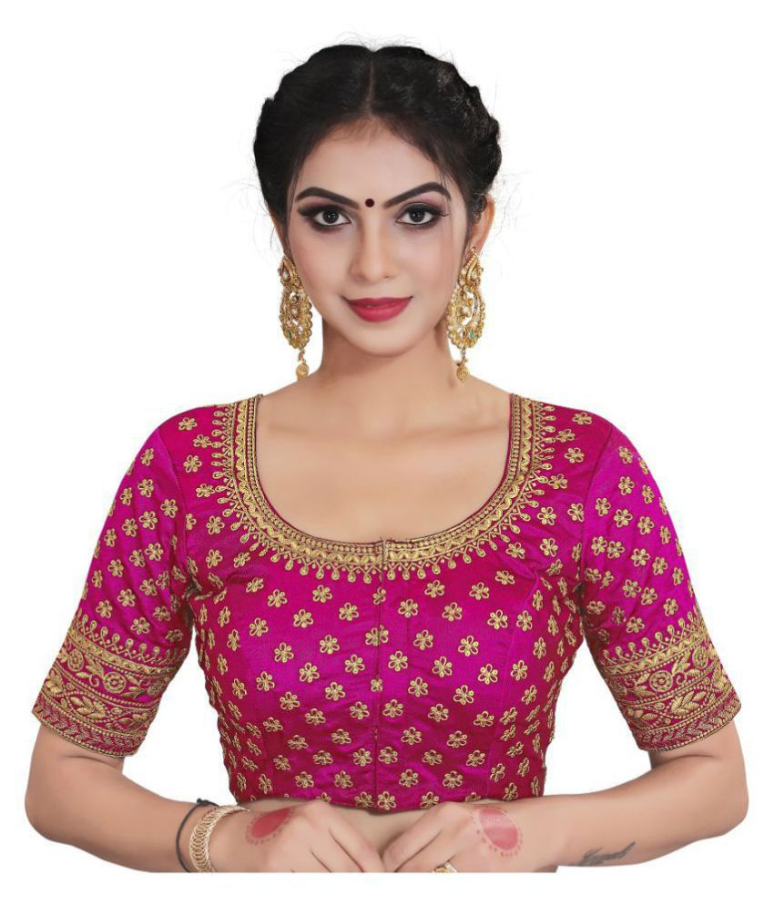 Xomantic Fashion Pink Satin Readymade with Pad Blouse