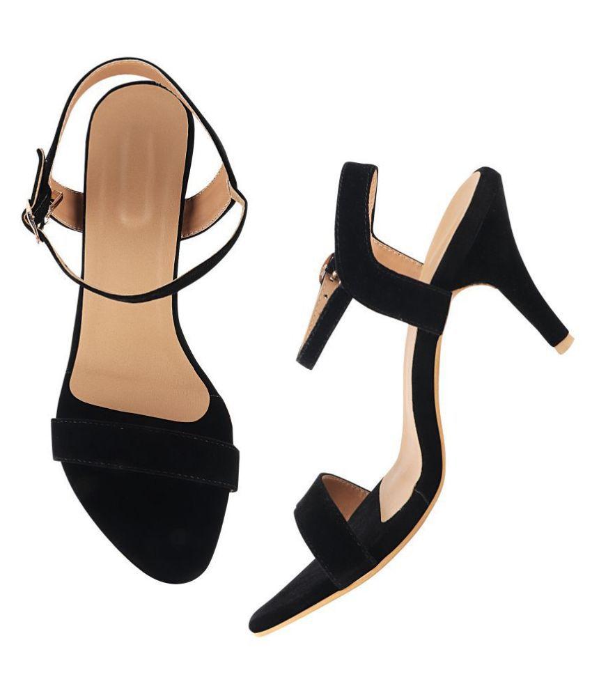 Do Bhai Black Stiletto Heels